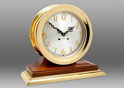 8 5 Quot Chelsea Andover Classic Clock In Brass